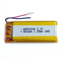 KPL502248 500mAh 3.7 V Lithium Polymer Battery Within 1C Rate Manufactures