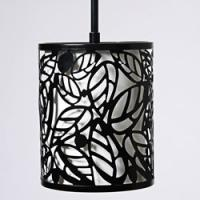 White poly resin+metal glass chandelier