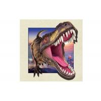 Dinosaur Image 0.6mm PET 3d Lenticular Pictures For Decoration 40x40cm Manufactures
