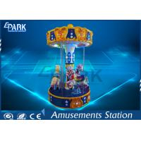 Playground Equipment Kiddy Ride Machine / Merry Go Round Carousel Small 3 Players Manufactures