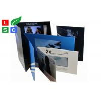 Quality 4.3 Inch LCD Advertising Display Video Screen Brochure With A4 A5 Full Color Printed Card for sale