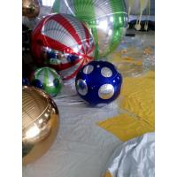 Mirror Cloth Material Inflatable Mirror Ball Double Line Three Synchronization Sewed Manufactures