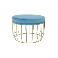Simplified Modern Nordic Style Stool Steel Frame And Plush Cover Manufactures