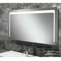 Buy cheap Modern illuminated Aluminum Led Bathroom Mirror With Radio , defogger , touch from wholesalers