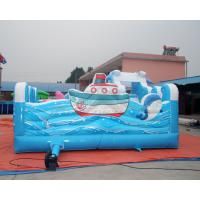 Quality Sea world inflatable bouncy castle with water slide and palm tree swimming pool for sale