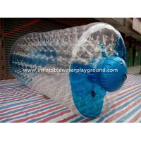 Commercial Rent Inflatable Water Roller With 0.8mm PVC Tarpaulin Plug Manufactures