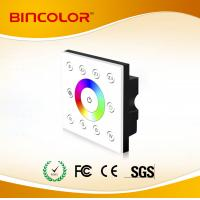 P8 AC85-265V multizone rgbw touch panel dmx touch dimming controller Manufactures