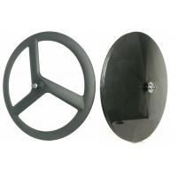 700C Front 3 Spoke Carbon Disc Wheel T700 High Stiff For Track / Fixed Gear Bike Manufactures
