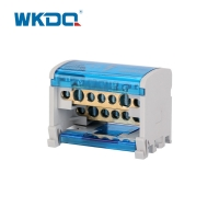 Durable Busbar Power Distribution Terminal Cabinet , Power Distribution Box UK 207 In Grey and Blue Color Manufactures