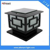 Aluminum Solar Pillar Lights ASA-004 Solar Post Pole Column Lights Solar Gate Lamp Manufactures