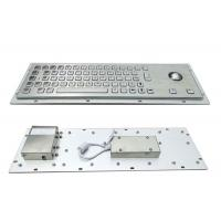 Quality 64 Keys Panel Mount Industrial Keyboard With Trackball Cabinet Kiosk Application for sale