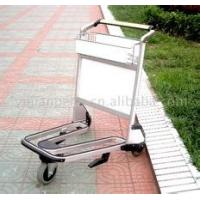 Lightweight Stainless Steel Airport Luggage Trolley Zinc Plating With Transparent Powder Coating Manufactures