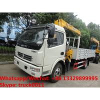 Factory sale good price Dongfeng 4*2 LHD 3.5tons telescopic boom mounted on truck, cargo truck with crane Manufactures