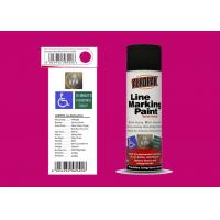 AEROPAK peach red color 500ml Line Marking Spray Paint with MSDS for street Manufactures