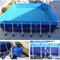Quality Outdoor Metal Frame Swimming Above Ground Pool with filter for sale