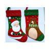Buy cheap Fashion Red Christmas Stocking , Patchwork Embroidered Christmas Stockings from wholesalers