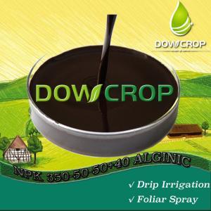 DOWCROP SEAWEED NPK 350-50-50+40ALG HIGH QUALITY HOT SALE BLACK BROWN LIQUID 100% water soluble fertilizer organic Manufactures