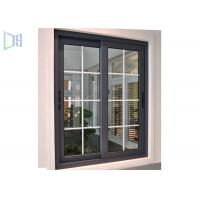 Black Color Aluminium Sliding Windows Powder Coating Corrosion Resistant