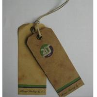 Brown Kraft Paper Tag, Cardboard Hang Tags With Bronze Eyelet And Hemp Rope Manufactures