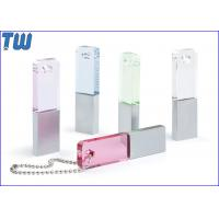 China Slim Rectangle Crystal Pen Drive Colorful with Free Ball Chain on sale