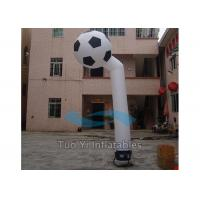 White Soccer Inflatable Sky Dancer Long Tube For Outdoor Promotion Manufactures