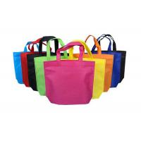 Quality Long Handle Foldable Non Woven Bags Side Guested 38x42cm Size Lightweight for sale