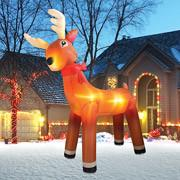 Inflatable Reindeer PVC Santa Claus Transportation Inflatable Christmas Decorations Manufactures