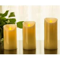 "Flickering Candle Real Wax Flameless LED Candles with Dancing Flame 3"" 4"" 5"""