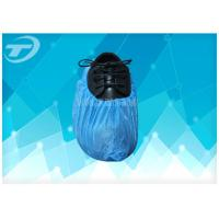 Quality Chlorinated Polyethylene Fabric Disposable Shoe Covers Blue Color for sale