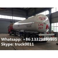 CLW brand triples BPW/FUWA axles 25tons bulk lpg gas tank trailer for sale, ASME standard cooking gas trailer for sale Manufactures