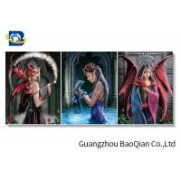 Plastic PET 3d Printing Lenticular Pictures With Wood Frame For Home Decoration Manufactures