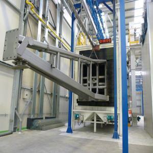 Lpg Tanks Mechanical Overhead Chain Shot Blasting Machine Manufactures