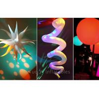Quality Digital Printing Hanging Inflatable Star LED Lights Decoration For Party / Wedding for sale