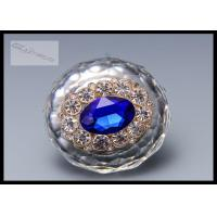 Chrome Crystal Drawer Handles And Knobs Swden Stylish Blue Arcylic Stones For Kitchen Cabinet Manufactures