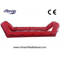 High Performance Inflatable Rescue Boat , Red Towable Army Inflatable Boats Manufactures