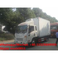 Quality Factory wholesale good price Dayun brand 4*2 LHD 4tons refrigerator van truck for sale, Dayun reefer van truck for sale