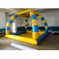 Heat Sealed Inflatable Swimming Pools 5*4*5m Blue And Yellow With 800w Air Pump Manufactures