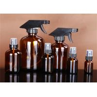 Multi Color Boston Round Glass Bottles , Boston Amber Bottles With Spray Head Manufactures