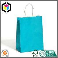 Automatic Machine Made Blue Custom Color Print Paper Bag White Kraft Paper for Shopping Manufactures