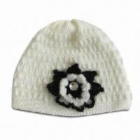 Crochet Hat, Suitable for Girls, Made of Wool/Mohair, Knitted by Hand Manufactures