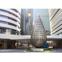 Large Stainless Steel Building Sculpture Outdoor Metal Entrance Sculpture Manufactures