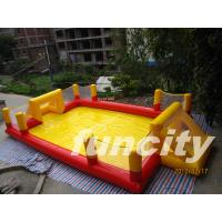 Popular Red And Yellow Inflatable Soccer Field Indoor Or Outdoor Manufactures