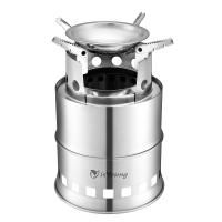 Stainless Steel Wood Burning Camping Stove With 4 Flexible Non Slip Arm Manufactures