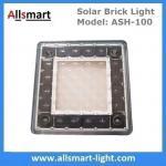4x4 inch Solar Paver Lights Patio Solar Brick Lights Garden Landscaping Solar Underground Inground Lights Manufactures