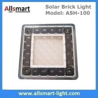 4x4 inch Solar Paver Lights Patio Solar Brick Lights Garden Landscaping Solar Underground Inground Lights Manufactures