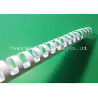 Quality Eco - Friendly 45mm Binding Plastic Comb / White Binding Combs For A4 Size Books for sale