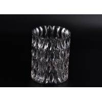 Crystal Round Sunken Surface Glass Candle Jar Glass Candlestick Holders Manufactures