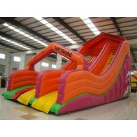 Quality Durable Inflatable Sports Games , Fun PVC Tarpaulin Bouncer Slide For Kids for sale