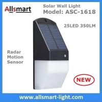 Solar Wall Light 25 LED Solar Garden Lights Decorative Fence Radar Sensor Motion Light Warm White Solar Fence Lights Manufactures