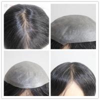 Factory Price Indian Human Hair Super Thin Skin V-looped Toupee For Men Manufactures